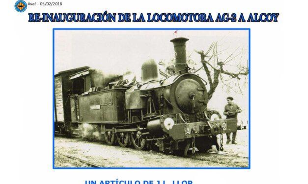 REINAUGURACION DE LA LOCOMOTORA AG-2 ALCOY